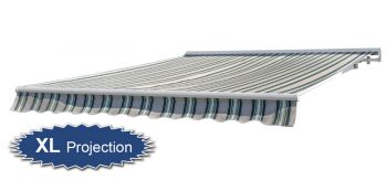3.5m Half Cassette Electric Awning, Multi Stripe (4m Projection)