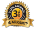 Warranty Badge 3 years!