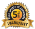 Warranty Badge 5 years!