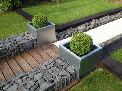 Cube Brushed Stainless Steel Planter - 58cm