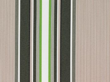 Multistripe polyester cover for 4m x 3m awning includes valance