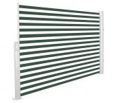 1.6m Patio Wind Break Full Cassette Manual Green and White Awning