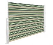 1.6m Patio Wind Break Full Cassette Manual Multistripe Awning