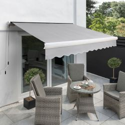 3.0m Full Cassette Electric Awning, Silver
