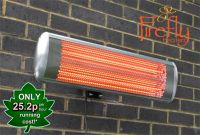 Firefly� 1.8kW Electric Halogen Wall Mounted Heater with Remote Control