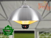 Firefly� 2.1kW Ceiling Mounted Electric Halogen Patio Heater - Two Heat Settings with Remote Control