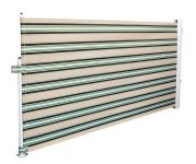 1.58M Patio Wind Break Multistripe Awning