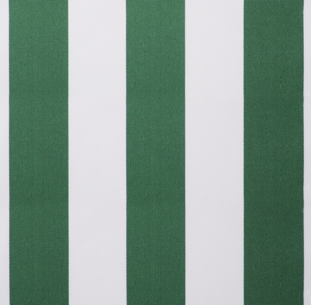Green And White Stripe Polyester Cover For 4 5m X 3m