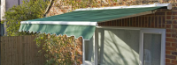 3.5m Half Cassette Electric Awning, Terracotta