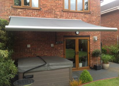 4.5m Full Cassette Electric Awning, Charcoal