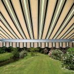3.5m Half Cassette Manual Awning, Multi Stripe