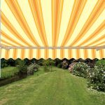 4.0m Half Cassette Electric Awning, Yellow Stripe Polyester