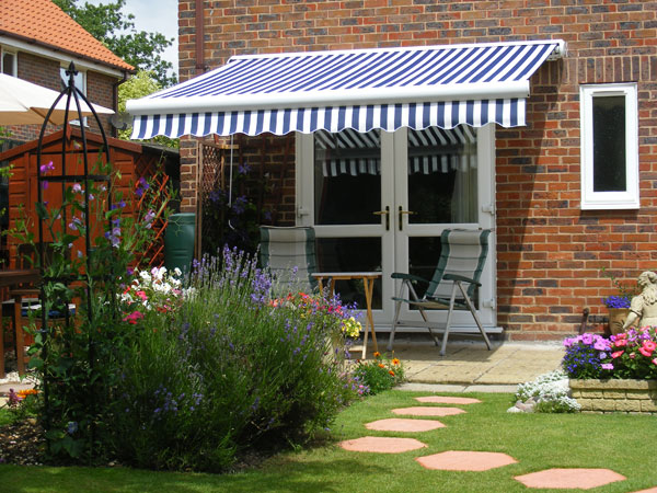 6m Full Cassette Electric Awning Charcoal Polyester 163