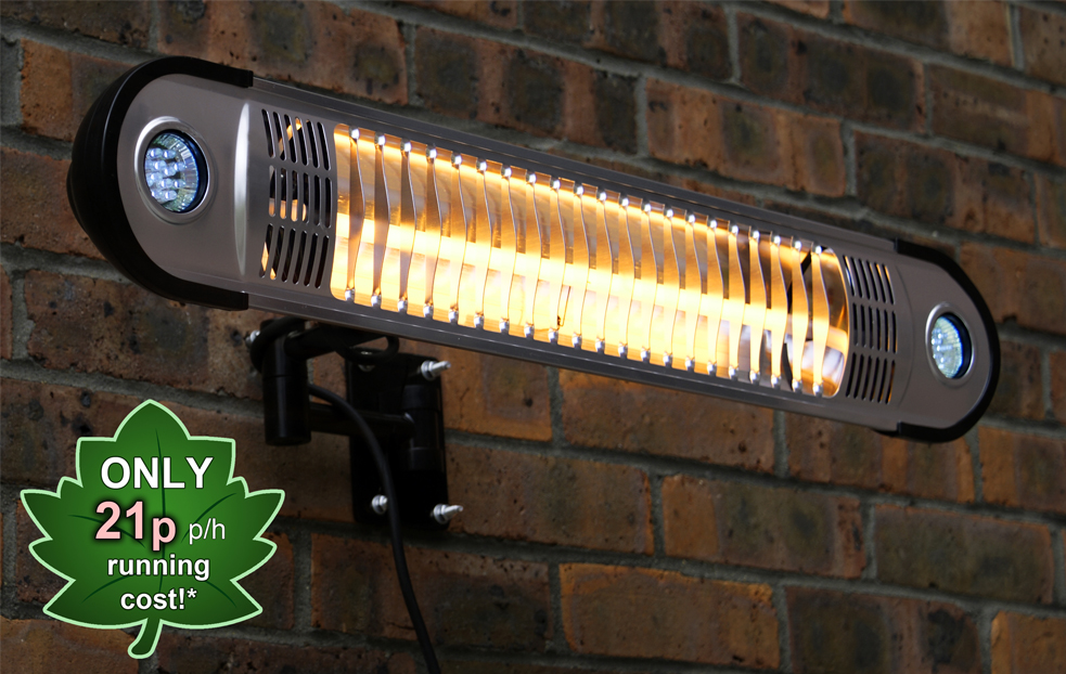 Firefly 1 5kw Halogen Heater With Led Lights And Remote Control 129 99