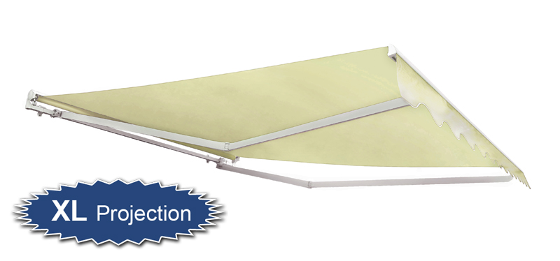 3.5m Half Cassette Electric Awning, Ivory (4.0m Projection)