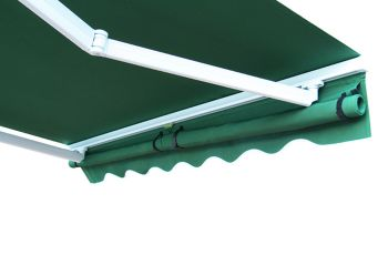 6m Dropdown Green and White Valance (1m Drop)