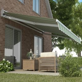 6.0m Half Cassette Electric Awning, Multi-Stripe