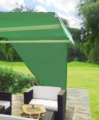 2.27m Right Angle Triangle Green Side Shade for Awning