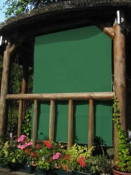 1.6m Rectangle Green Side Shade for Wooden Structure