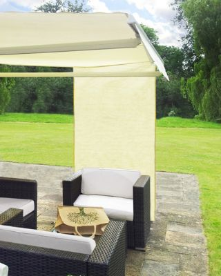 1.6m Rectangle Ivory Side Shade for Awning