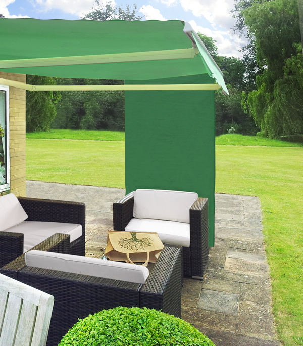 1.6m Rectangle Green Side Shade For Awning £19.99
