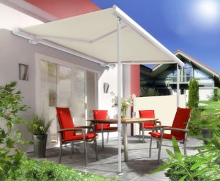 Support Pole Kit for Awnings - Adjustable 1.7m to 2.9m (White)