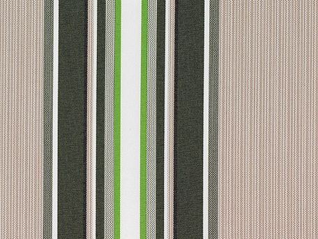 Multi Stripe polyester cover for 5.0m x 3m awning includes valance