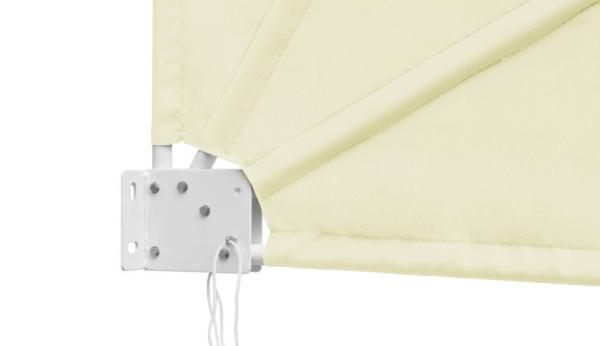 1 4m Patio Fan Wind Break Manual Awning In Ivory 163 99 99