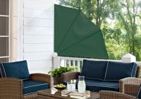 1.4m Patio Fan Wind Break Manual Awning in Green