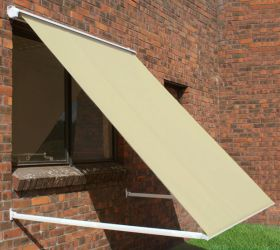 2.0m Half Cassette Drop Arm Awning, Ivory
