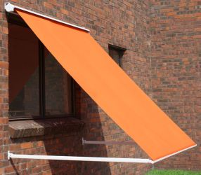 1.0m Half Cassette Drop Arm Awning, Terracotta