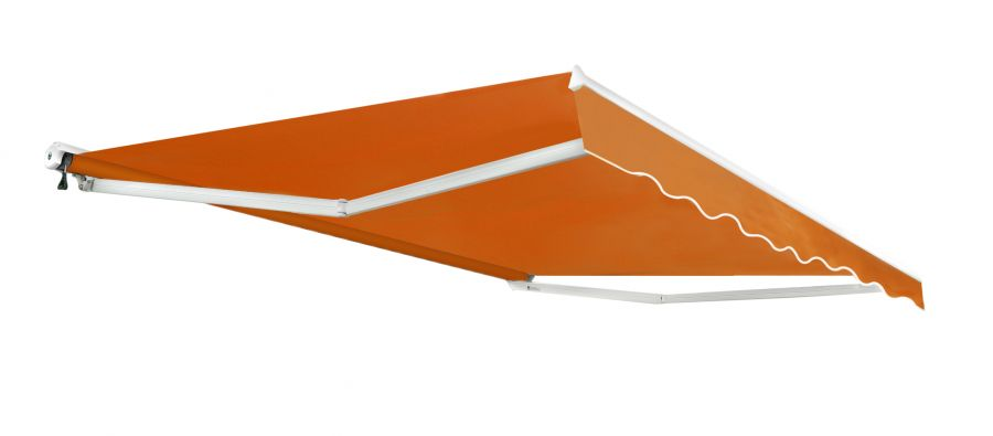 4.0m Half Cassette Manual Awning, Terracotta