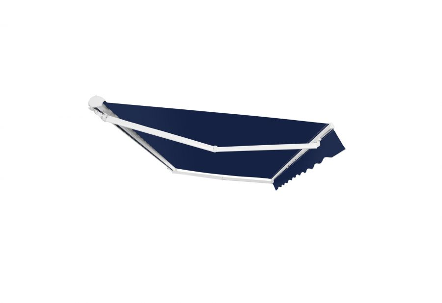 4.0m Half Cassette Manual Awning, Plain Dark Blue