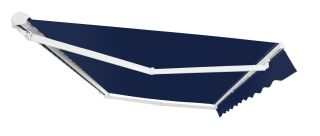 2.5m Half Cassette Manual Awning, Plain Dark Blue