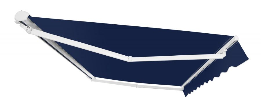 3.0m Half Cassette Manual Awning, Plain Dark Blue