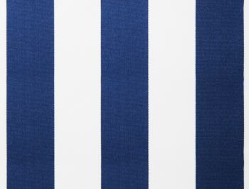 Blue and white polyester cover for 2.5m x 2m awning includes valance