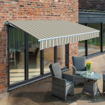 3.5m Budget Manual Awning, Multi Stripe