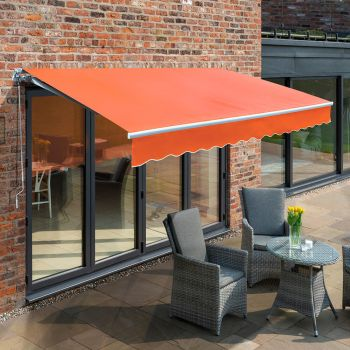 3.5m Budget Manual Awning, Terracotta