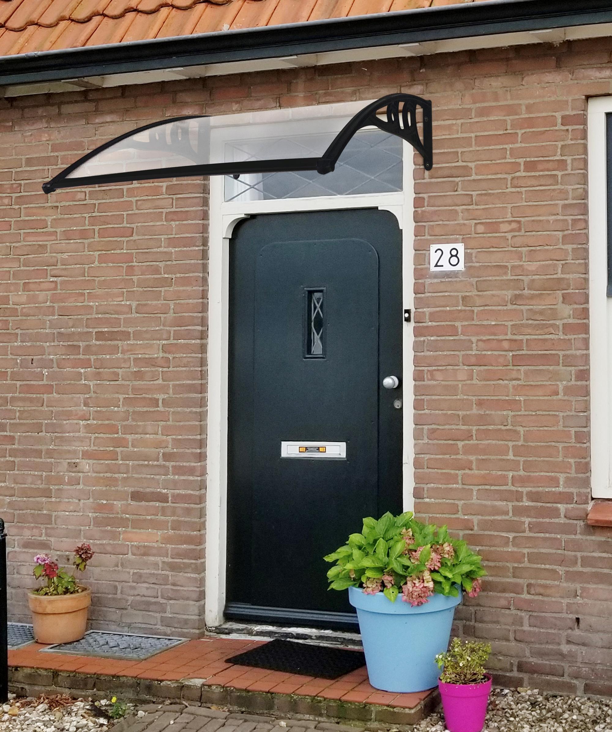 150 X 80cm Black Door Canopy
