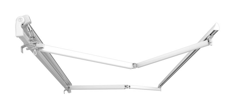 4m Standard manual awning frame with arms only