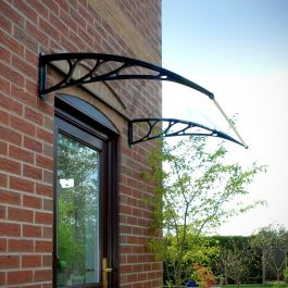 Door Canopy - Black
