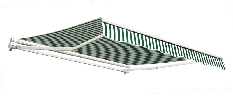 3.0m Budget Manual Awning, Green and White
