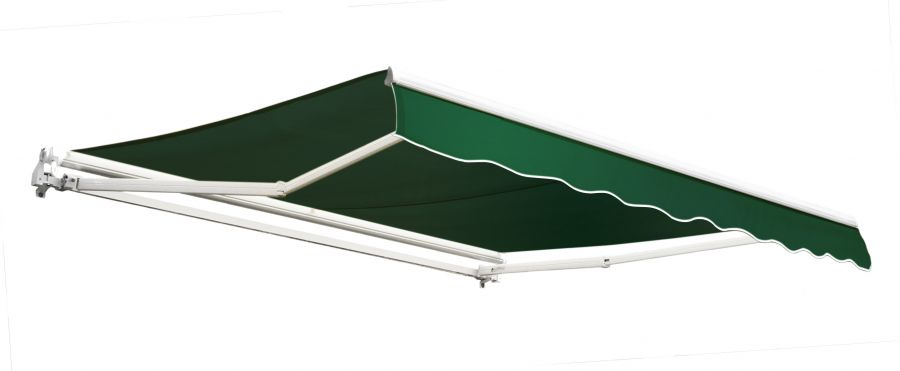 3.0m Budget Manual Awning, Plain Green