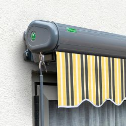 3.0m Full Cassette Electric Yellow and Grey Awning (Charcoal Cassette)