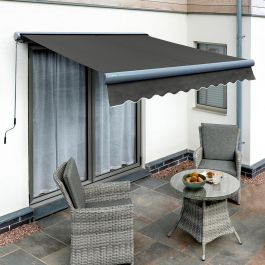 4.0m Full Cassette Electric Charcoal Awning (Charcoal Cassette)