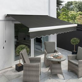 5.0m Full Cassette Electric Awning, Charcoal