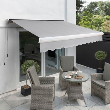 4.5m Full Cassette Electric Awning, Silver