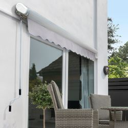 4.0m Full Cassette Manual Awning, Silver