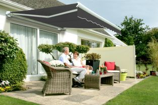 2.0m Full Cassette Manual Awning, Charcoal