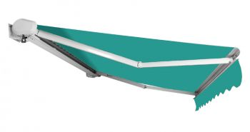 3.5m Full Cassette Electric Awning, Turquoise